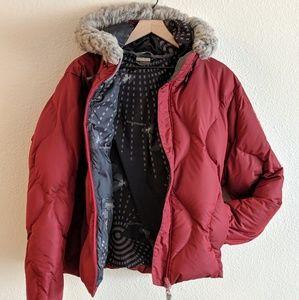 Salomon Women's Red Puffy Jacket